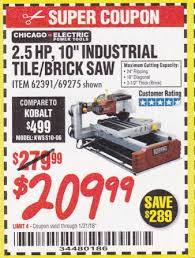 Tile Nippers Harbor Freight by Harbor Freight Tools Coupon Database Free Coupons 25 Percent