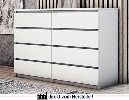 kommode c013 schrank 8 schubladen weiß schlafzimmer 119cm