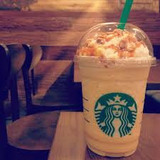 Orange Honeycomb Crunch Frappuccino