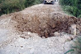 This Crater Was Caused By The Explosion That Flipped HMMWV Sergeant Horton In