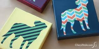 12 Easy Diy Canvas Art Crafts How To Decorate Your Own Blank
