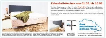 zirbenholz wochen vom 01 09 bis 15 09 matratzen und