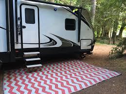 Outdoor Patio Mats 9x12 by Rv Patio Rug Outdoor Camping Mat Chevron Pattern 9x12 Ebay