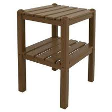 Teak 2 Shelf Patio Side Table