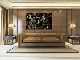 leinwandbild chanel gucci louis vuitton brands wandbild wohnzimmer büro