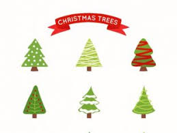 Kinds Of Christmas Trees by A Variety Of Cartoon Christmas Tree Vector Free Vectors Ui