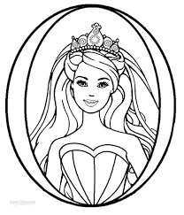 Printable Barbie Princess Coloring Pages For Kids With