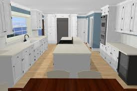 Awesome And Beautiful Galley Kitchen With Island Layout Bench Designs Dimensions At End