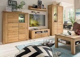 details zu massivholz wohnwand 4teilig wildeiche geölt wohnzimmer schrank wand anbauwand