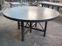 solid zinc table top home design by john