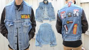 diy how to add patches to a denim vest no sew kad