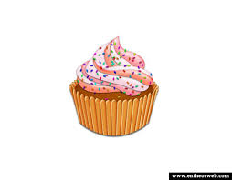Delicious Cupcake in shop
