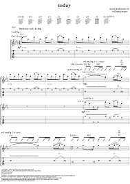 The Smashing Pumpkins 1979 Meaning by 15 Today Tab Smashing Pumpkins Today With Tab Staff Sheet