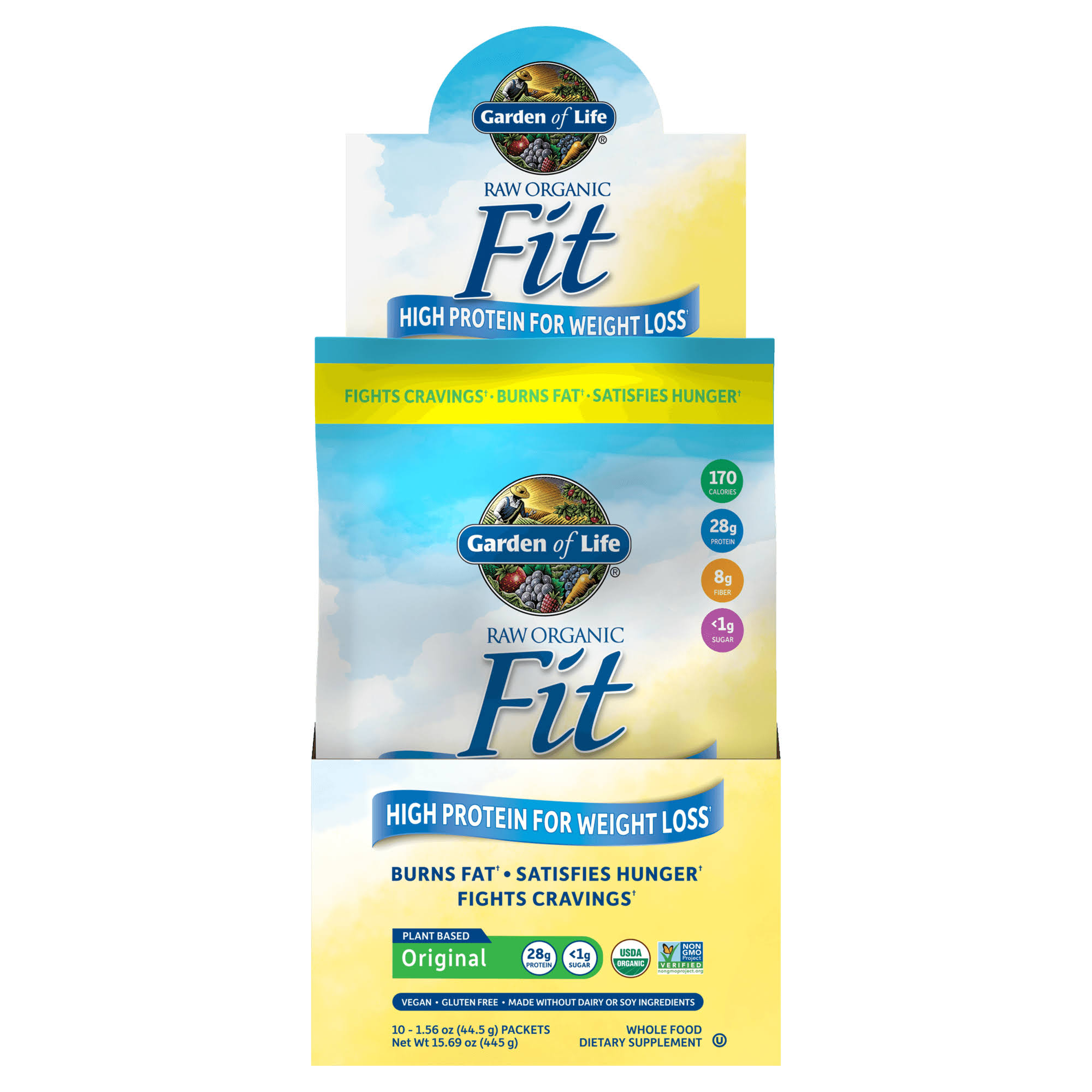 Garden of Life Raw Fit Weight Loss Supplement - 10 Packets