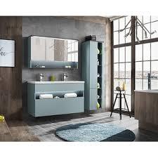 3 teiliges badmöbel set bahama mit waschplatz 120cm hoch spiegelschrank mintgrün hochglanz