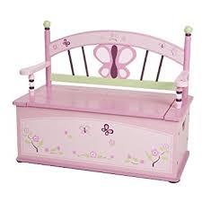 amazon com wildkin sugar plum toy box bench toys u0026 games