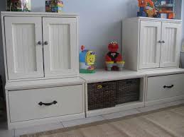 furniture joyful storage for toy room design with modern white