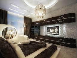 interior magnificent decoration in bedroom using walnut headboard