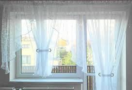 fertiggardine aus voile balkon set schöne weiße gardine hg
