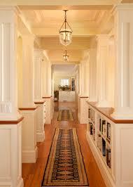 Rustic Hallway Lighting Hall Victorian With Rug Runner Cream Walls