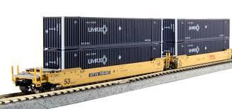 N-Scale Gunderson MAXI-IV Well Cars: Precision Railroad Models