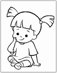 Boo Thinking Coloring Pages For Kids Printable Monsters Inc