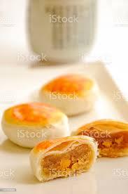 eigelb kuchen traditionellen asiatischen gebäck stockfoto und mehr bilder bäckerei
