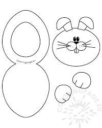 Paper Bunny Card Craft Printout