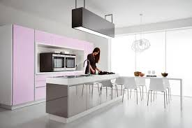 Pink Kitchen Cabinets By Cucine Lube 550x366 And Violet Design Ideas