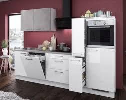 einbauküche mankagloss 1 in weiß hochglanz beton küchenzeile 280 cm mit e geräte