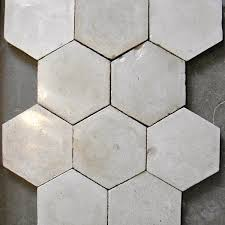 plain hexagon colored cement tile mood board