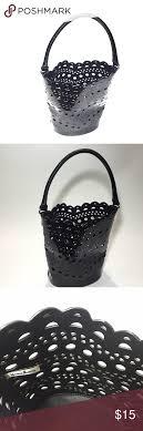 Black Laser Cut Bucket Bag Cute seasonal Neiman Marcus Bucket bag
