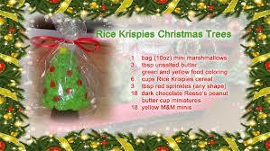 Rice Krispie Treats Christmas Trees