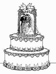 Wedding Cake clipart drawn 4