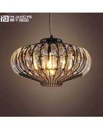 Injuicy Loft Vintage Industrial K9 Crystal Metal Pendant Hanging Lamps Shades American E27 Edison Led Pumpkin