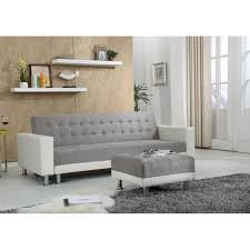 repose pied canapé canapé convertible apollon repose pieds gris blanc achat