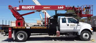 100 Truck Mounted Cranes 500 Lb Elliott L60R Aerial Platform Lift For Sale Or