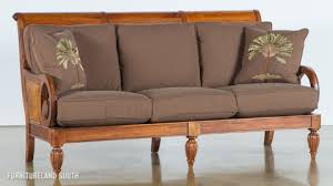 Gorgeous Wood Frame Sofa With Cushions Hereo On