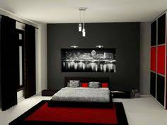 Bedroom Red And Black Design Ideas Home Pleasant With Regard To Attractive Property Decor For