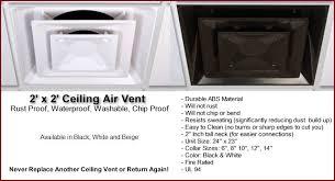 Ceiling Heat Vent Deflector by Ceiling Vents Returns Deflectors Diverters Washable