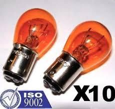 Harley Davidson Light Bulbs by 10 Amber Glass 1157 Bulb Harley Davidson Turn Signal Blinker Tail