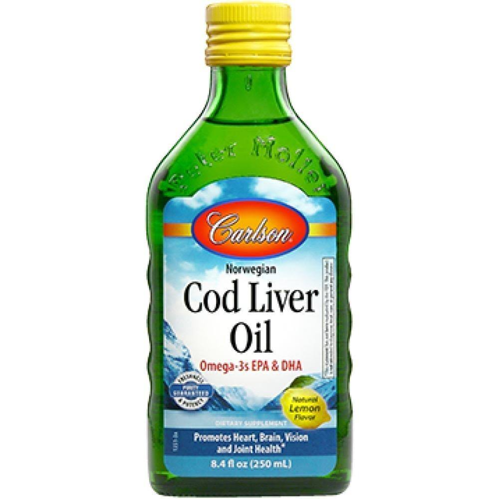 Carlson Labs Norwegian Cod Liver Oil - Lemon