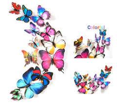 12Pcs1 Lot 3d Wall Sticker Stickers Butterflies Pegatinas De Pared Art Animal Carton Rolly Paper Room Decoration