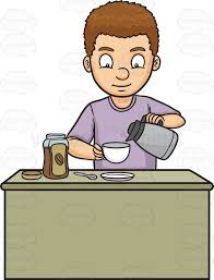 A Man Preparing Instant Coffee