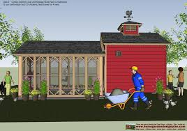 10x14 Barn Shed Plans by Shed Plans Building Cb211 Combo Chicken Coop Garden Shed Plans
