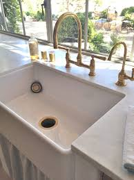 Unlacquered Brass Bar Faucet by Slim Lined Farmhouse Sink This One Is The 30