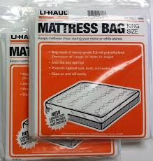U Haul Moving King Size Mattress Bag Plastic Cover