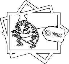 Bed Bugs Polaroid Coloring Page