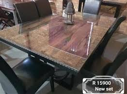 6 Seater Glass Top Dining Set