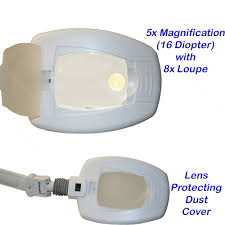 Magnifying Floor Lamp 10x by Led Clamp On 16 Diopter 5x Magnification Magnify Mag Lamp